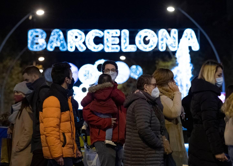 Barcelone, pendant les fêtes de fin d'année.