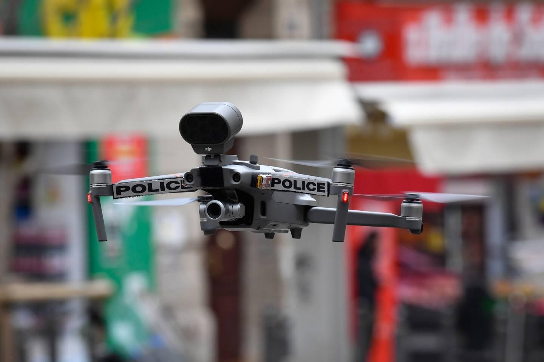 Illustration drone police.