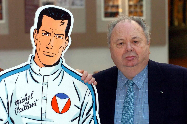 """Le dessinateur français Jean Graton a créé celui qui allait devenir le plus célèbre héros de course automobile de BD, Michel Vaillant, dans le journal """"Tintin"""" en 1957."""
