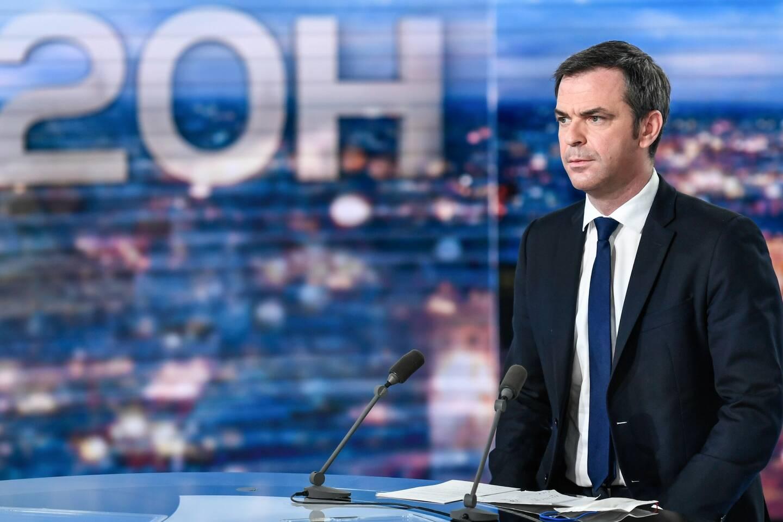 Le ministre Olivier Véran était l'invité du 20 heures de TF1.