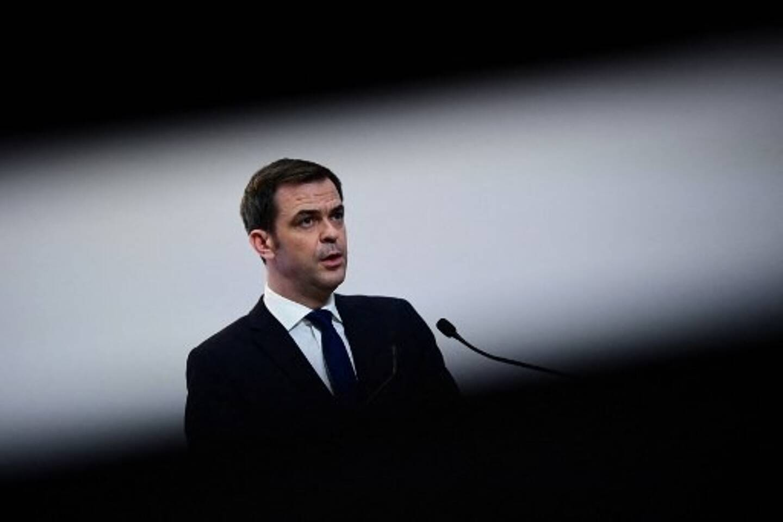Olivier Véran, lors d'une conférence de presse.