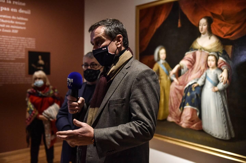 Le maire Louis Alliot, lors de la réouverture des 4 musées à Perpignan.