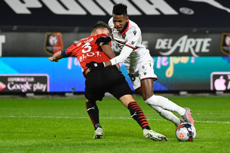 Hicham Boudaoui, ici lors de la victoire contre Rennes, est toujours absent.