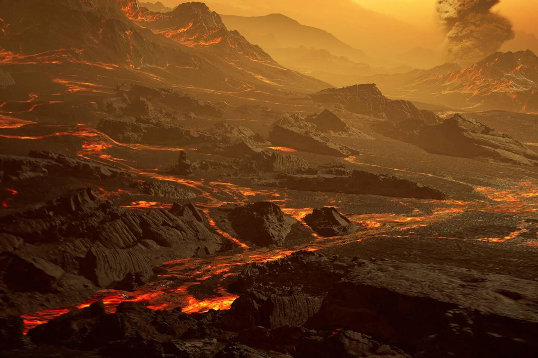 """Une planète """"parsemée de volcans et de rivières de lave"""""""