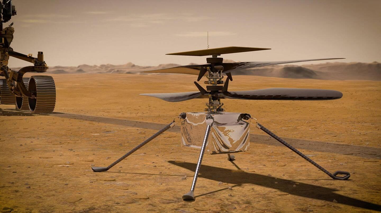 La Nasa veut faire voler, pour la première fois, un engin motorisé sur une autre planète. L'hélicoptère, baptisé Ingenuity, devra arriver à s'élever dans un air d'une densité équivalente à 1% de celle de l'atmosphère terrestre.