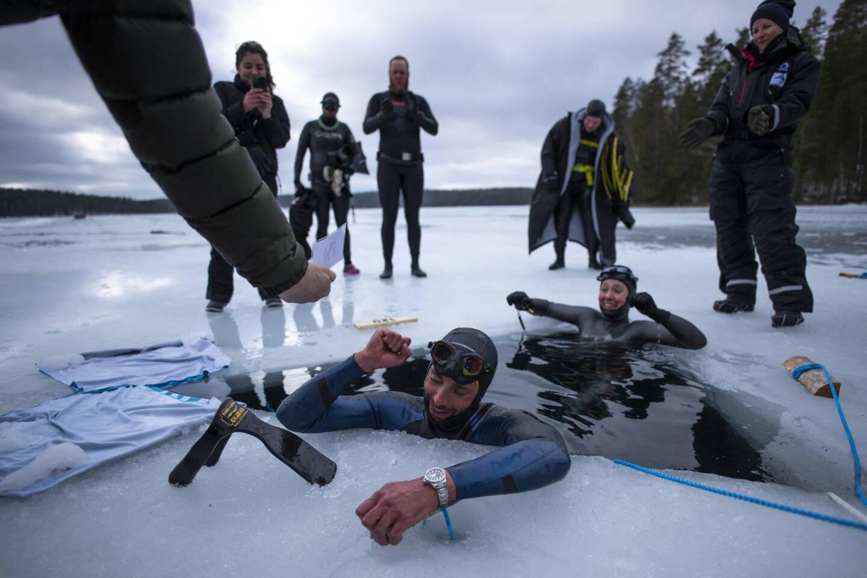 Le 25 mars, l'apnéiste niçois a établit un nouveau record du monde en Finlande.