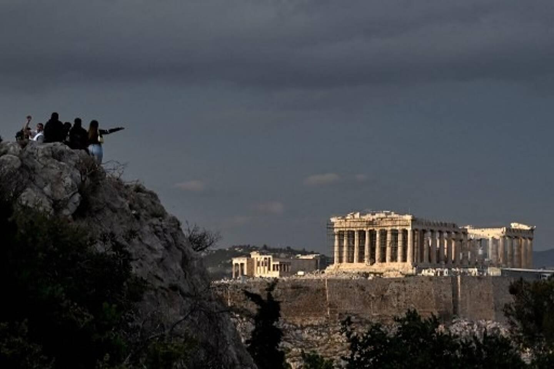 L'Acropole à Athènes.