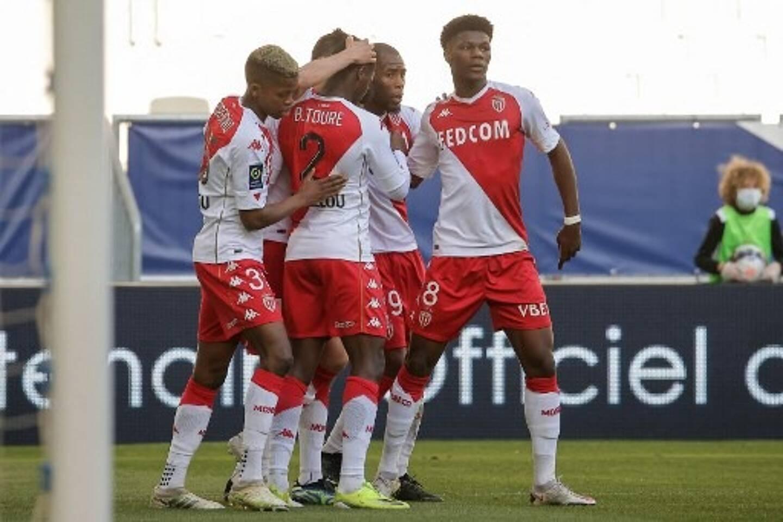 La joie des joueurs de l'AS Monaco à Bordeaux.