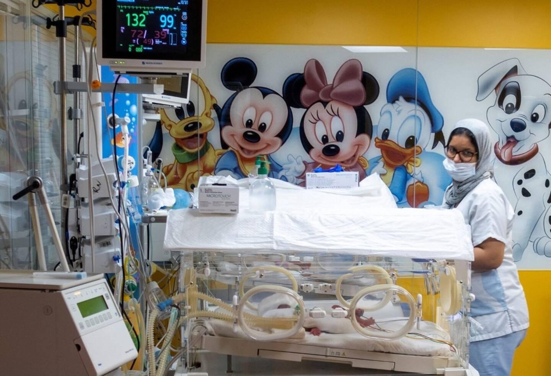 L'échographie montrait sept fœtus.