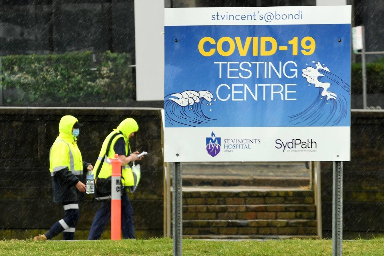 Un centre de dépistage Covid-19 en Australie.