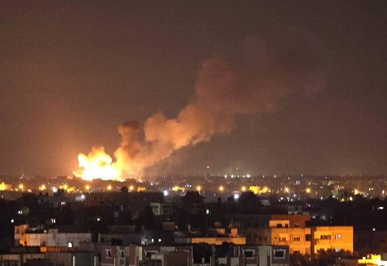 Pluie de roquettes à Tel-Aviv dans la nuit du 11 au 12 mai 2021.