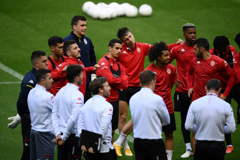 Les Monégasques ont pu s'entraîner sur la pelouse du Stade de France, ce mardi après-midi.