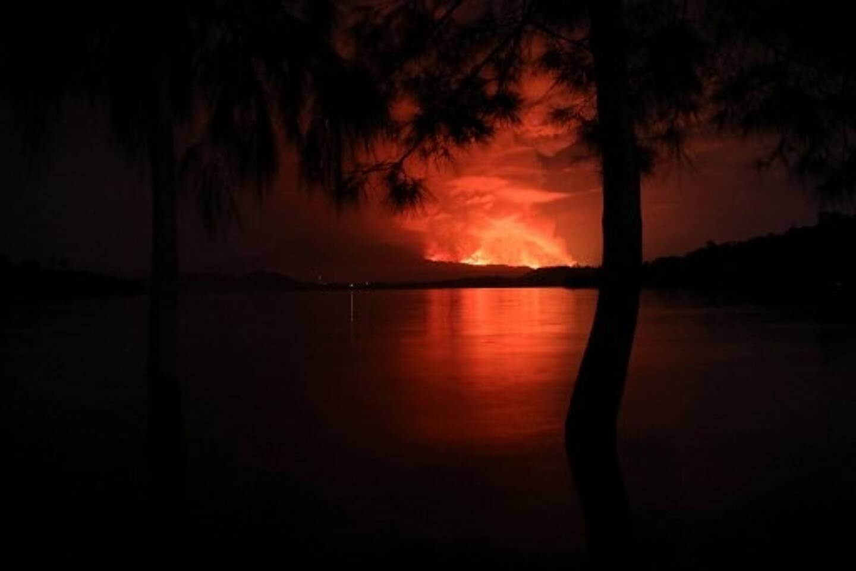 L'éruption du volcan Nyiragongo au Congo.