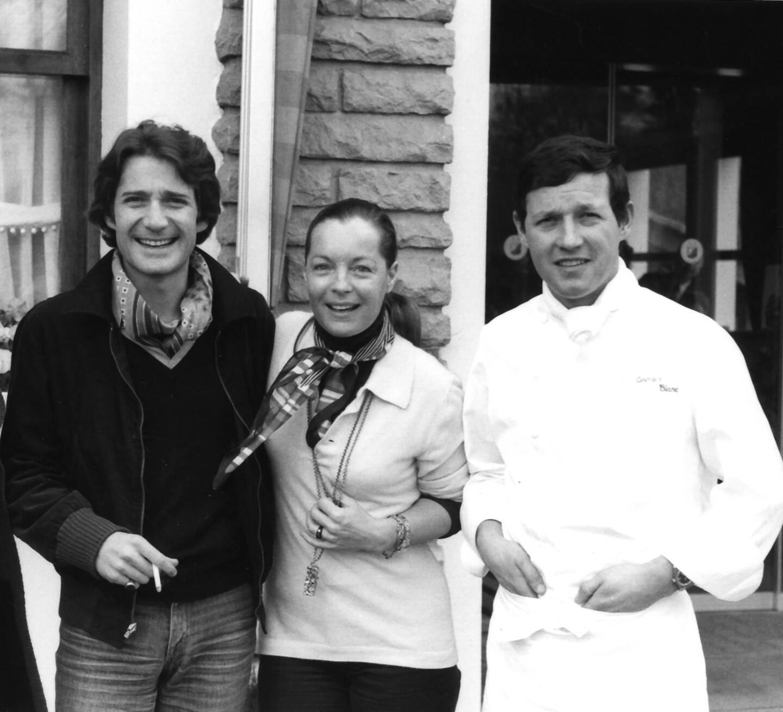 """Romy Schneider """"est venue un samedi de Pâques 1978 avec son mari Daniel Biasini, me disant que manger ici avait été pour elle une fête."""""""