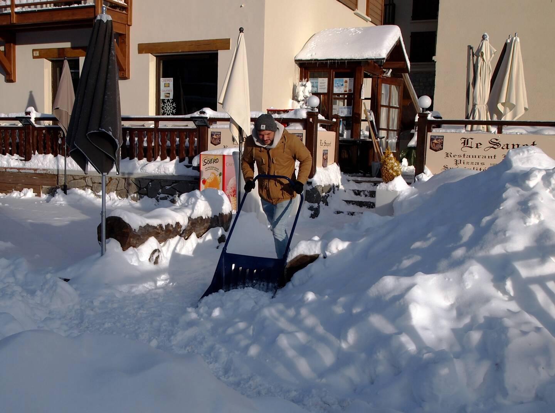 A Valberg il est tombé plus de 40 cm de neige depuis le Jour de l'An.