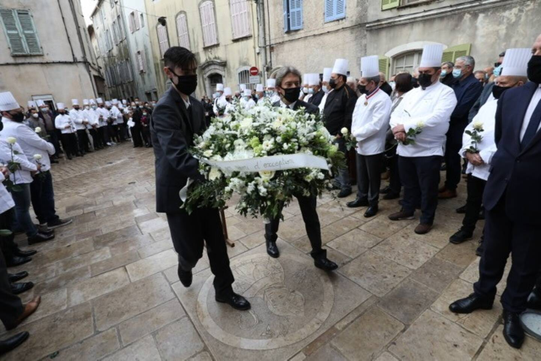 Aux obsèques de Philippe Da Silva, ce vendredi matin à Brignoles.