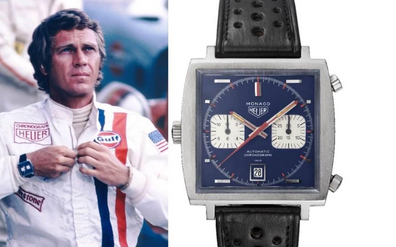 """Cette Tag Heuer """"Monaco"""" appartenait à Haig Altounian, chef mécanicien sur le film """"Le Mans"""" et mécano perso de Steve McQueen."""
