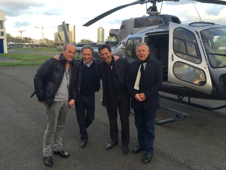 """""""Michel Drucker avait piloté l'hélicoptère qui nous ramenait d'une journée chez Pierre Perret à Nangy. A son bord Laurent Baffie et Laurent Gerra"""""""
