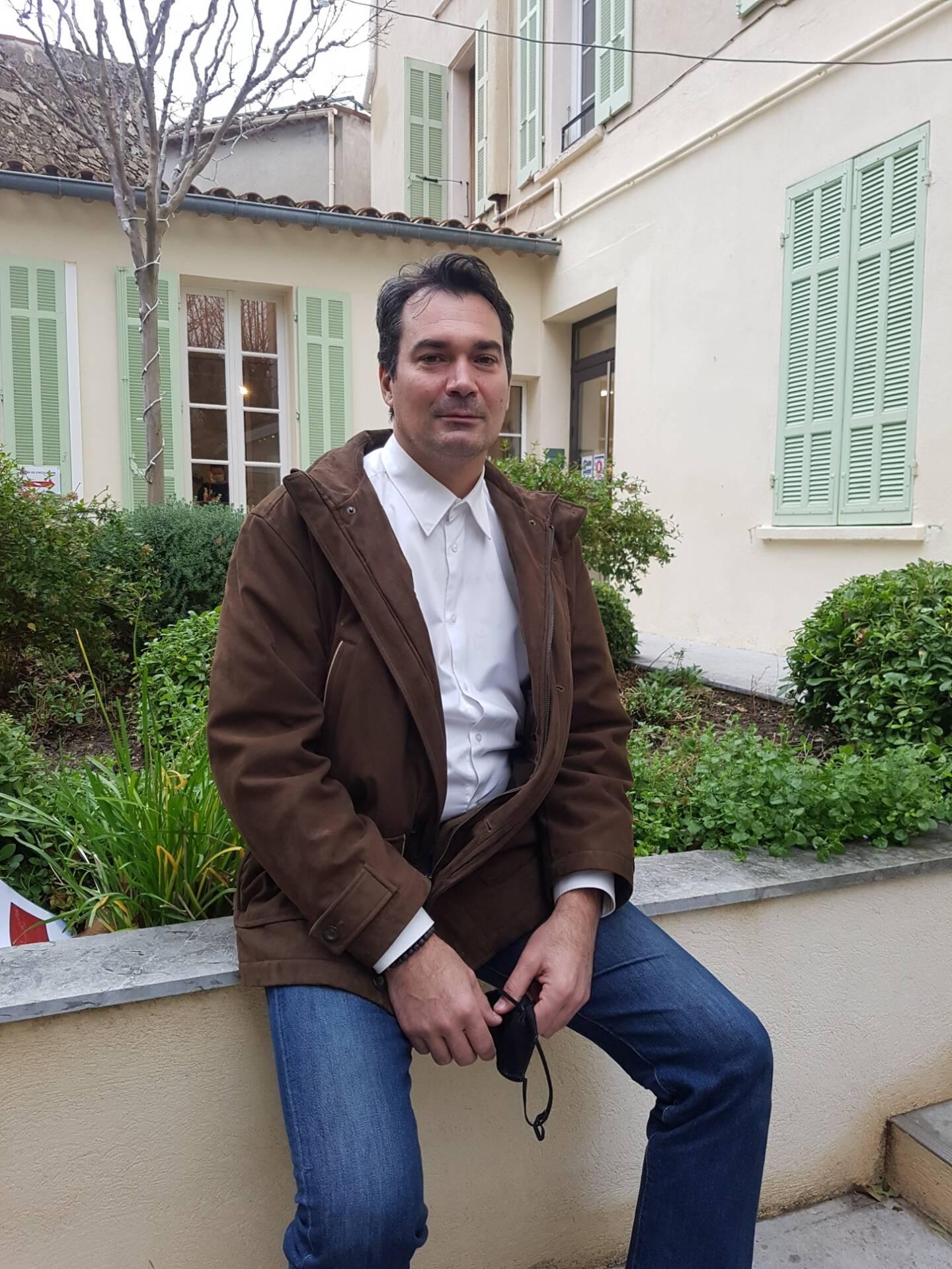 Thomas Dombry, maire de La Garde-Freinet.