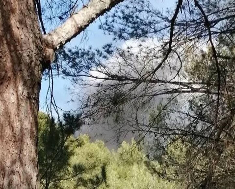 La fumée dégagée par l'incendie était visible depuis les alentours de la route de Tourris.
