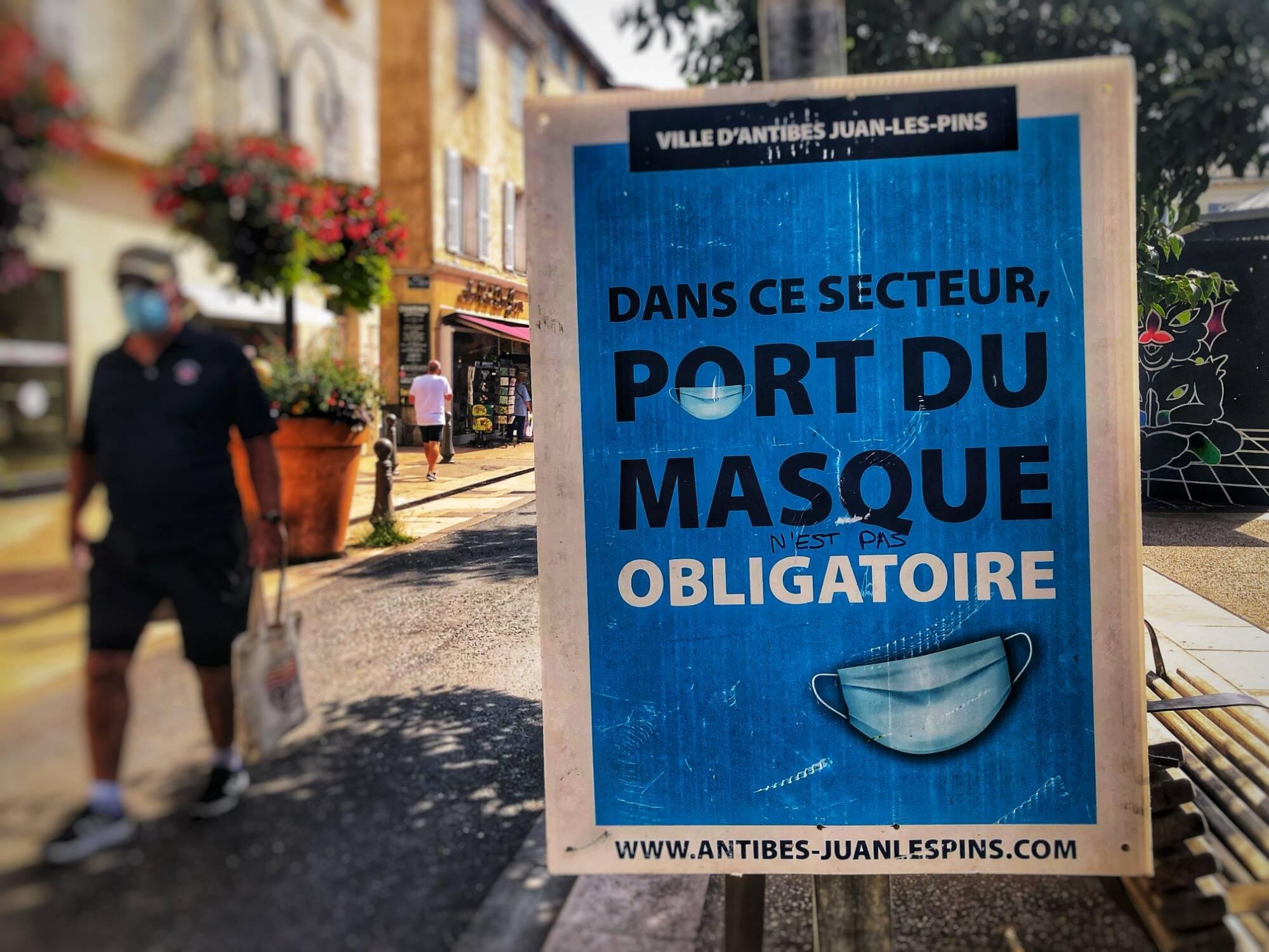 Le port du masque obligatoire prolongé jusqu'au 2 novembre dans les Alpes-Maritimes