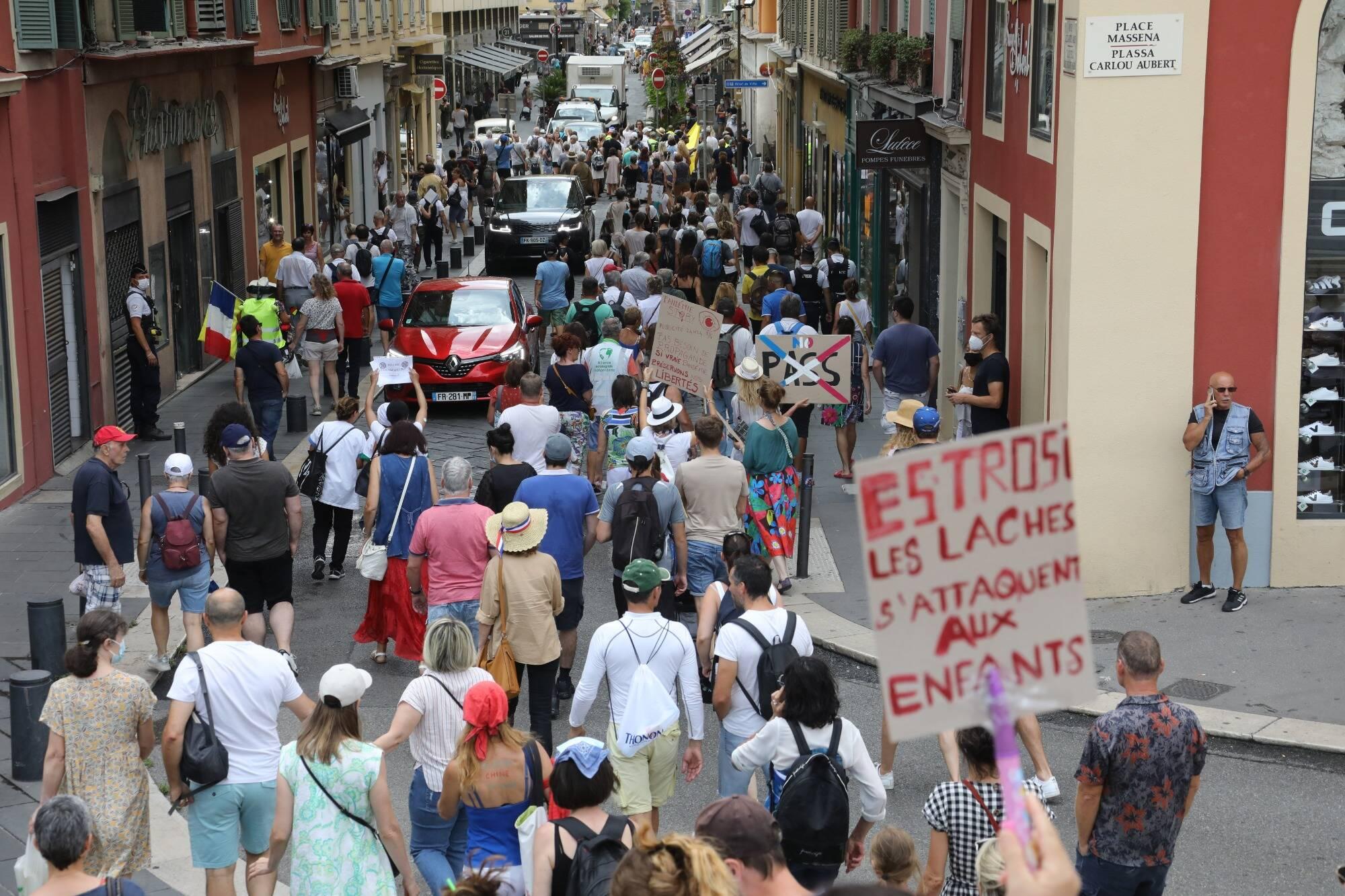 Le préfet des Alpes-Maritimes décide d'interdire la manifestation anti pass sanitaire de ce samedi dans le centre de Nice