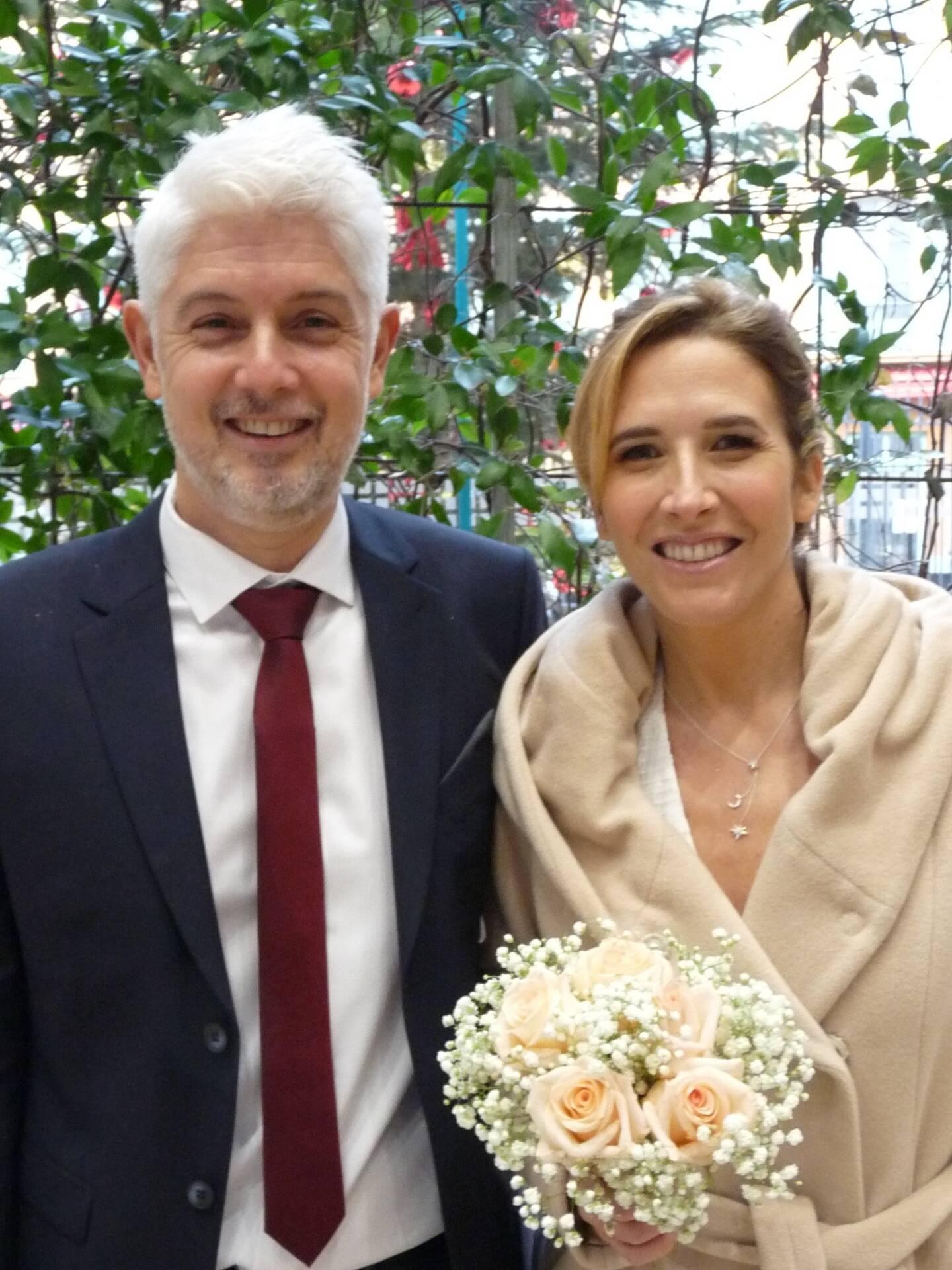 Stéphane Dubost et Aline Giacomoni, commerciaux.
