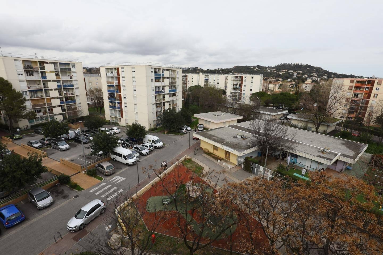 Vu de la cité La Frayère à Cannes.