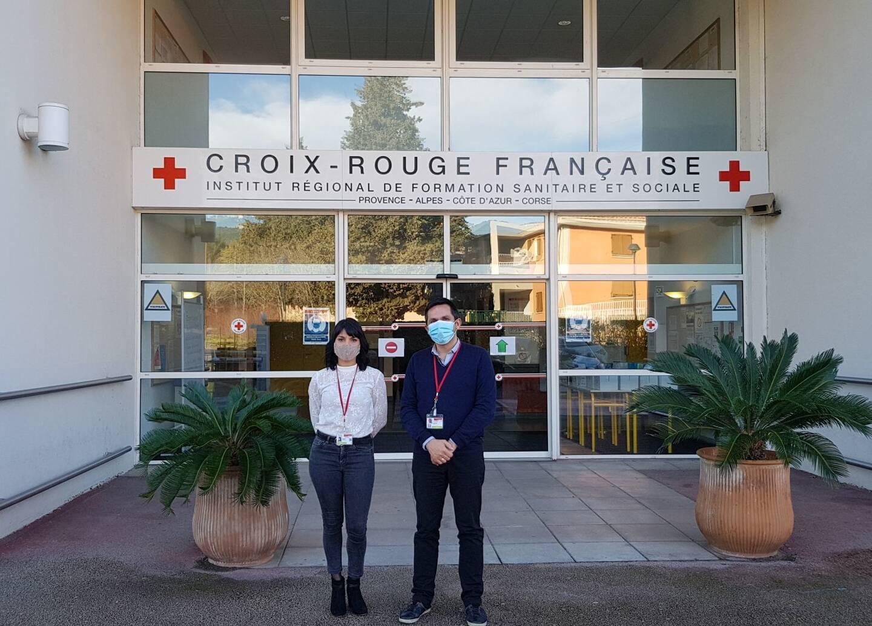 Aurélia Bézia, référente en communication et Lionel Regard, directeur de la Croix-Rouge Ollioules proposent une formation à tout étudiant infirmier qui souhaite renforcer les équipes d'aides soignants en établissement de santé.