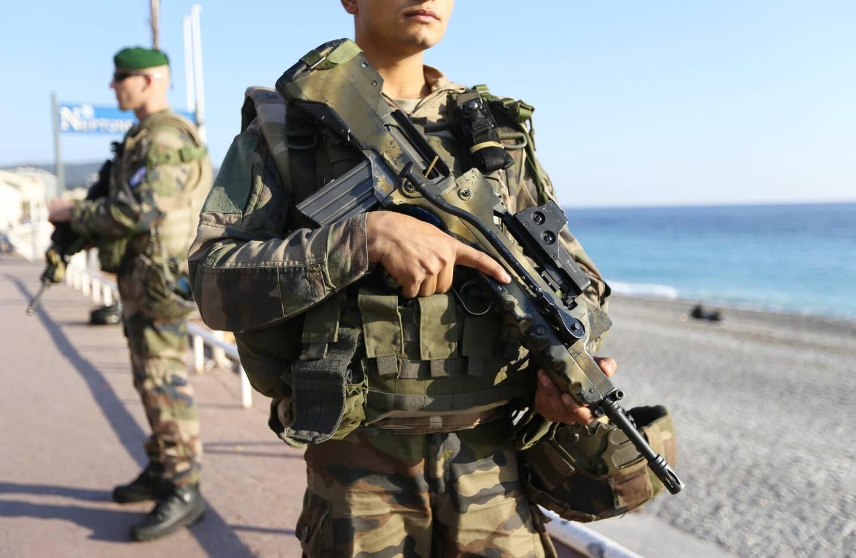 Des militaires de la force Sentinelle en patrouille à Nice (image d'illustration).