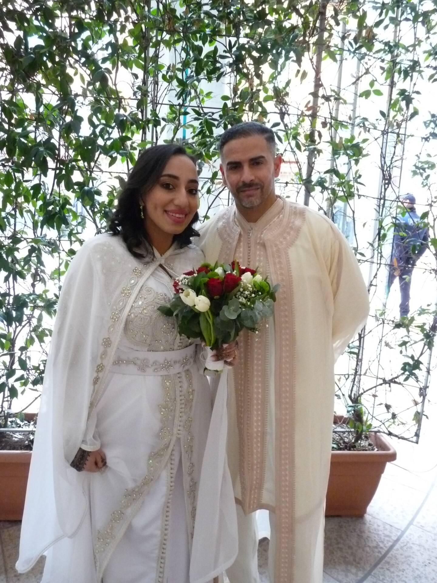 Imane Charfeddin,aide-soignante et Imad Ragoubi, agent de sûreté.