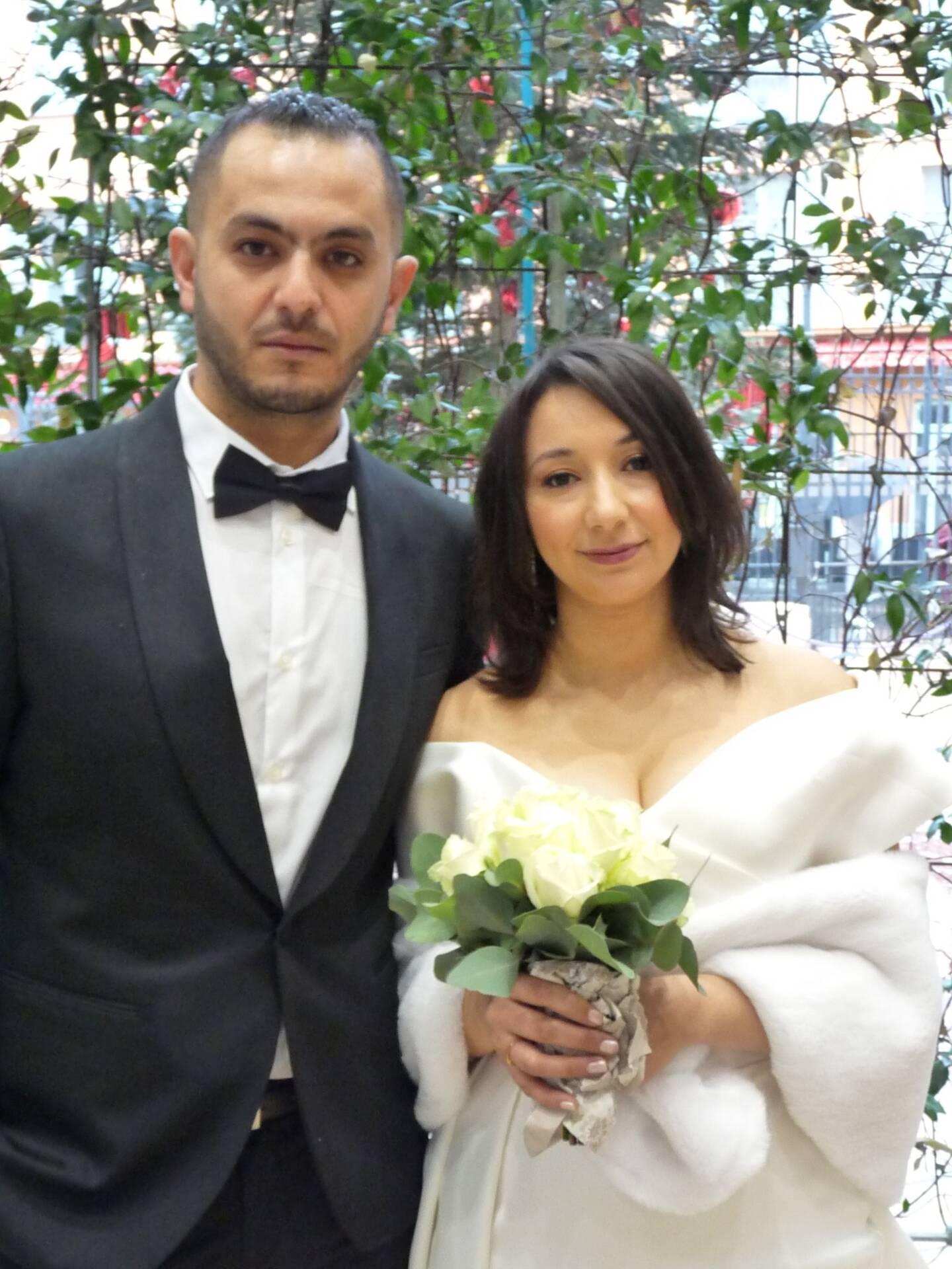 Abdelkarim Sakhri, auto-entrepreneur, et Lydia Mehenni, étudiante.