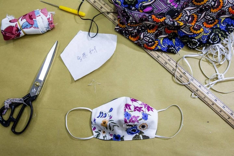 Masque en tissu maison artisanal