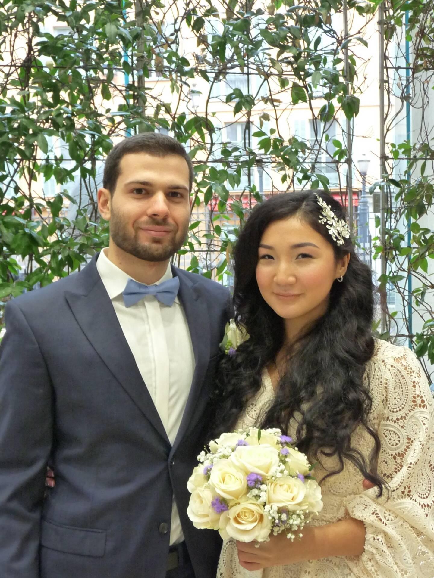 Caelin Kaplan, doctorant en informatique, et Azhar Kaukerbekova, étudiante.