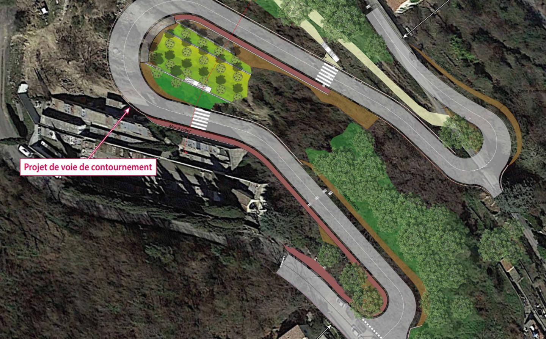 Le contournement du village du Broc reliera la route de Pont-Charles-Albert à l'avenue Francis-Gag.