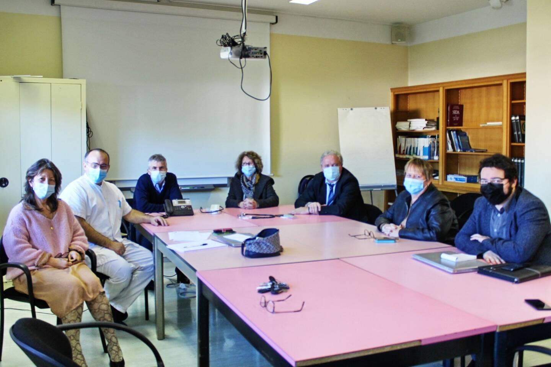 Au Luc, les élus, dont le président du conseil de surveillance de l'hôpital Dominique Lain, et le directeur Richard Lamouroux, ont fait le point sur la campagne de vaccination.