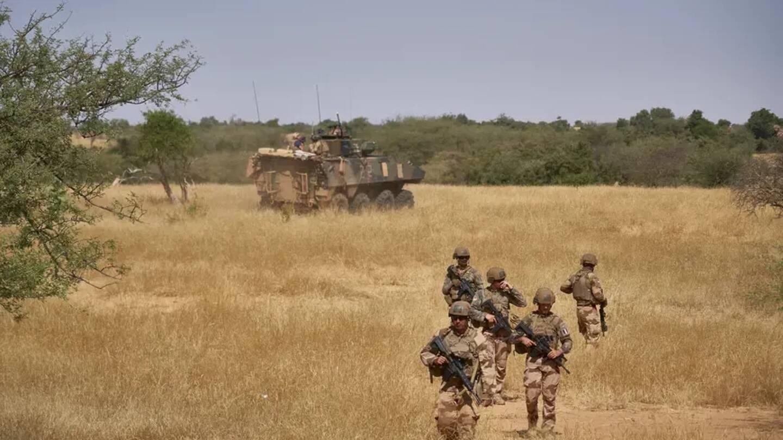 Des soldats français de l'opération Barkhane dans le nord du Burkina-Faso, pays frontalier du Mali, en 2019.