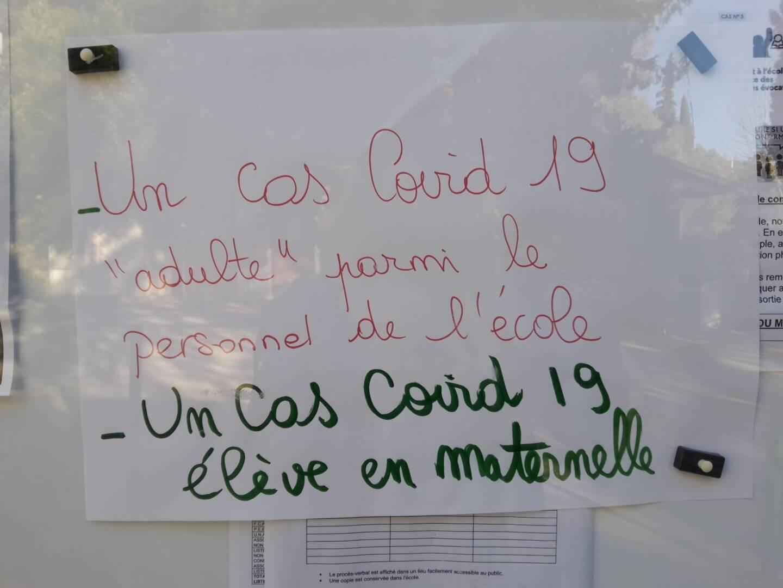 """Deux cas de Covid-19 ont été signalés à l""""écoles de Callas."""