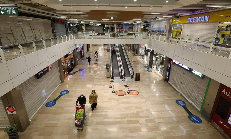 La galerie commerciale d'Auchan La Trinité a fermé ce lundi soir