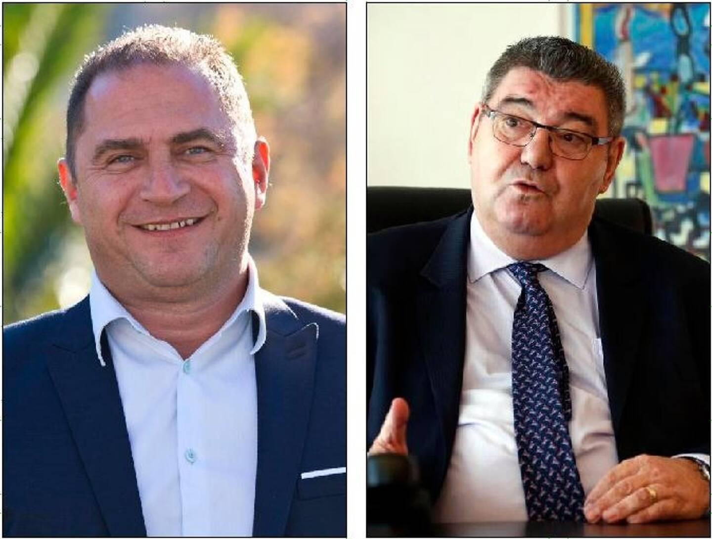 Le sénateur LR Michel Bonnus et le président LR du conseil départemental du Var Marc Giraud