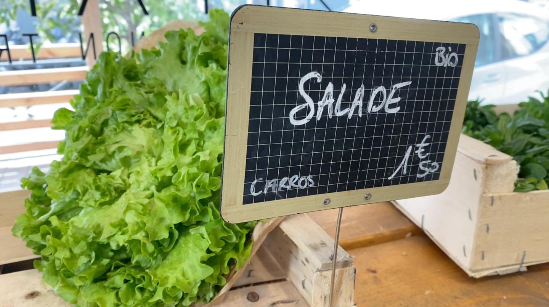 Nous sommes allés vérifier les prix de fruits et légumes bio dans plusieurs endroits de Nice. Ici, chez 21 Paysans.