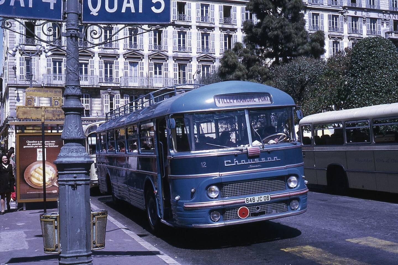 Chausson autocars Bailet Gare des autobus Nice 1973