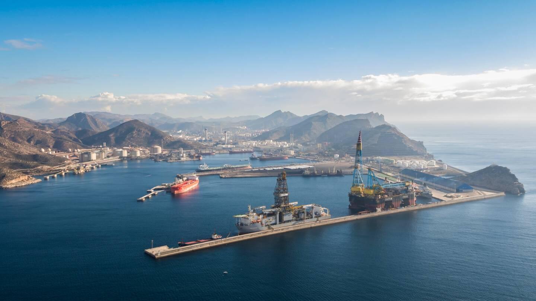 Le port de Carthagène, en Espagne.
