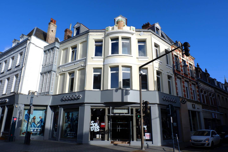 Une rue commerçante d'Arras où les loyers sont très élevés.