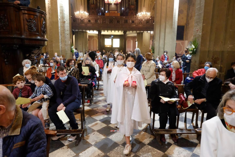 La messe de Pâques a été célébrée par Mgr Dominique Rey, évêque de Fréjus-Toulon.