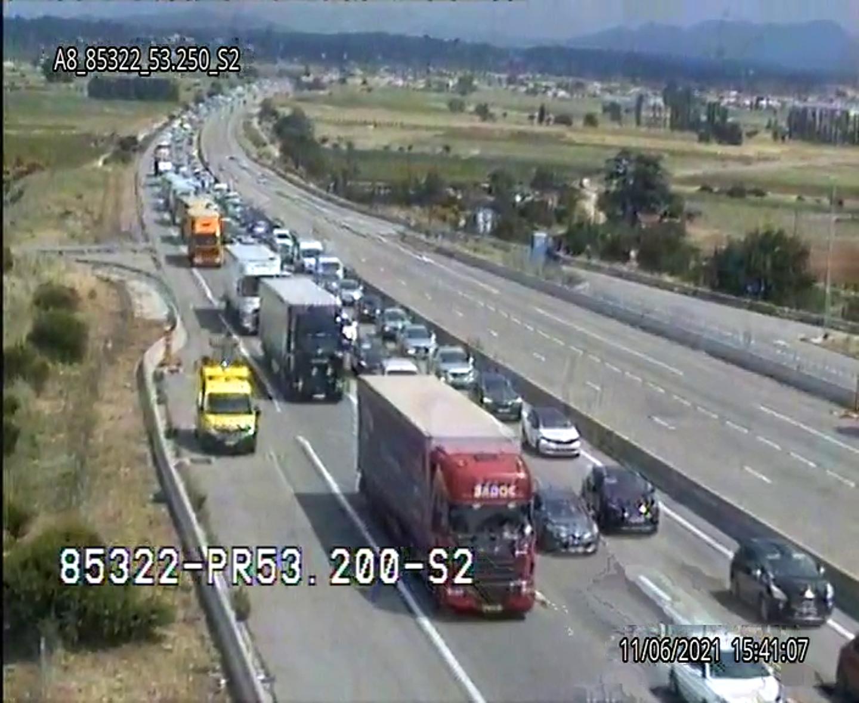 Un accident s'est produit, ce vendredi en début d'après-midi, sur l'A8 à Pourrières.