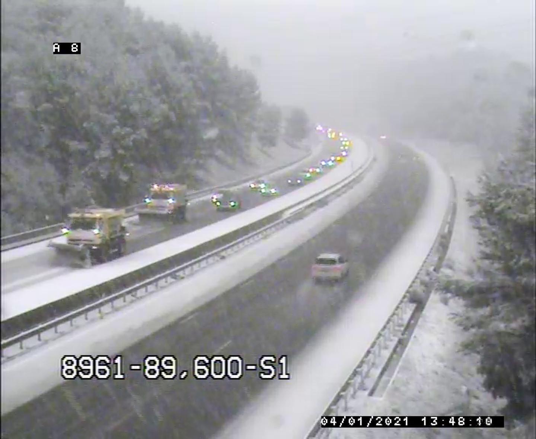Ce lundi en début d'après-midi, la situation météorologique s'est dégradée sur l'autoroute A8 entre Le Cannet des Maures et Brignoles.