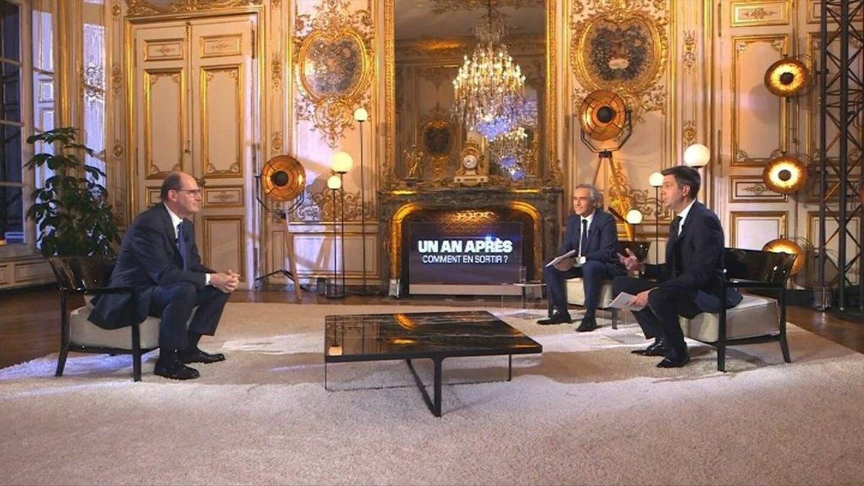 Jean Castex, interrogé par les journalistes de BFMTV