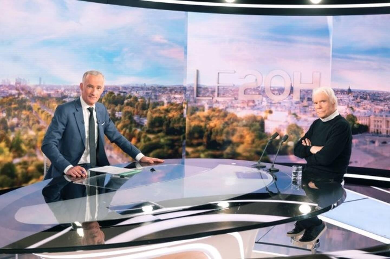 Bernard Tapie, invité du journal de TF1.