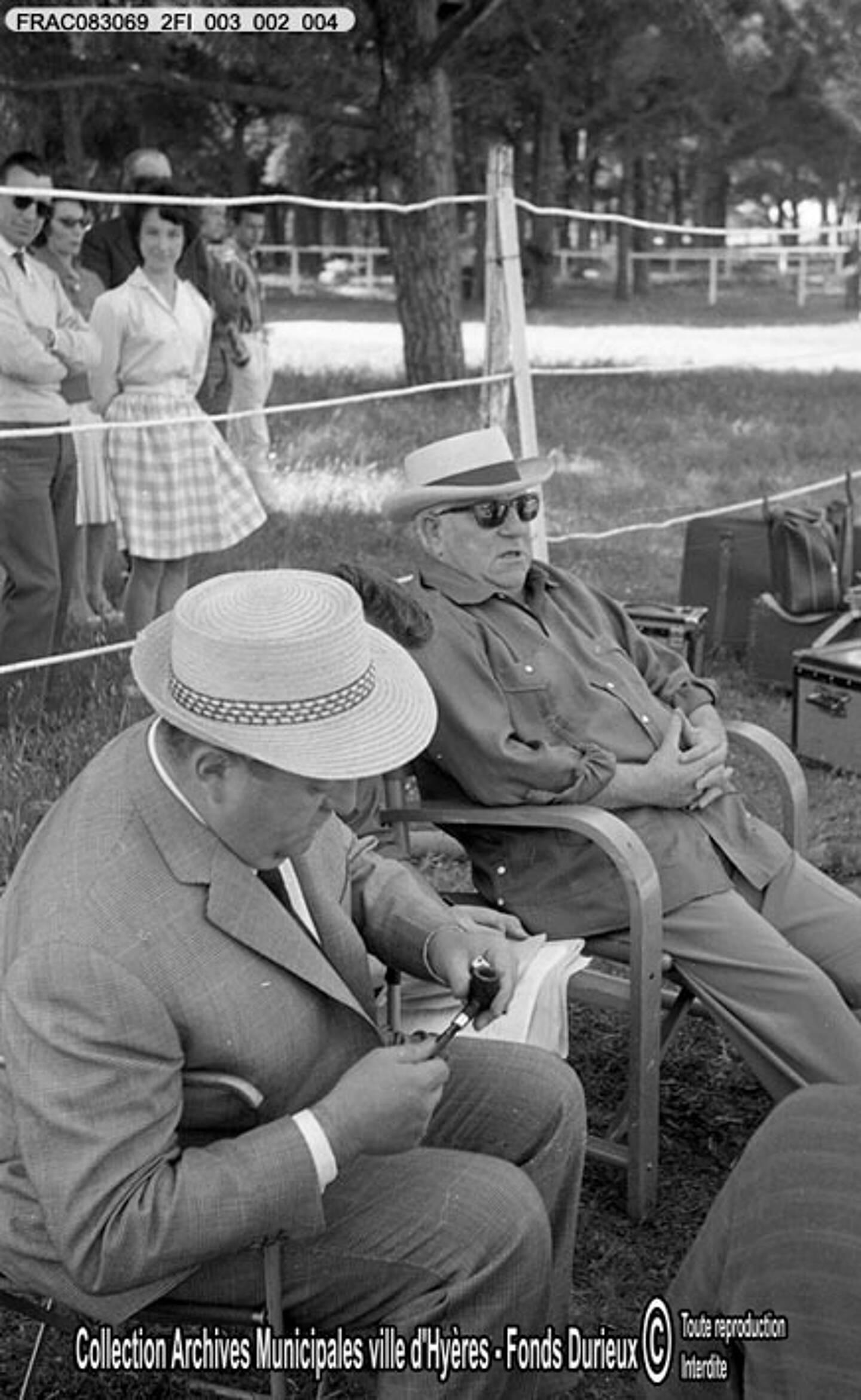 Jean Gabin immortalisé par le photographe André Durieux à Hyères